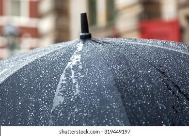 rain umbrella with rain drops