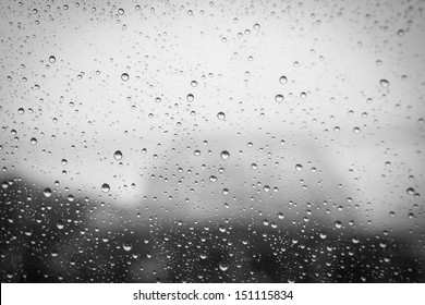 Rain Water drops background