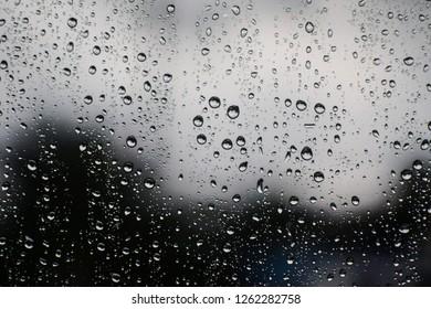 Rain water at the miror.
