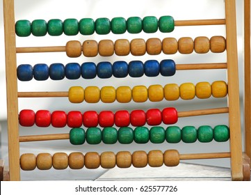 Rainbow abacus , Abacus in the kindergarten,Montessori material