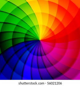 Rainbow abstract background composition