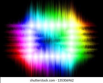 Rainbow abstract design