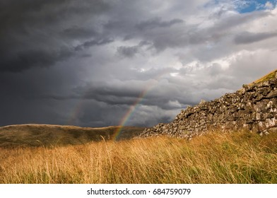Rainbow after storm in Mourne mountains, Northern Ireland