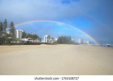 A Rainbow in Rainbow Bay, Gold Coast, Australia