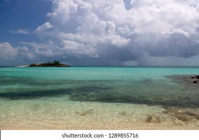 Rainbow beach, Eleuthera island, Bahamas.