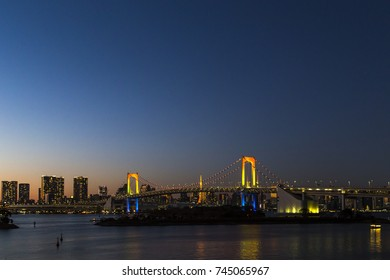 The Rainbow Bridge in blue hour