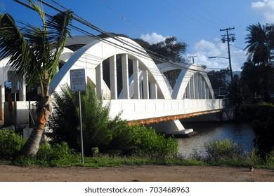 Rainbow Bridge in Haleiwa, Oahu, Hawaii