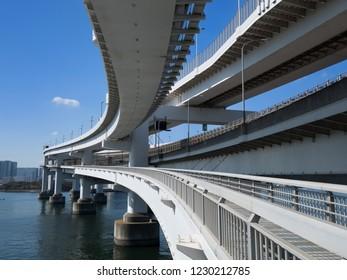 Rainbow Bridge Promenade in Tokyo