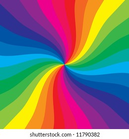 Rainbow burst makes a very colorful background