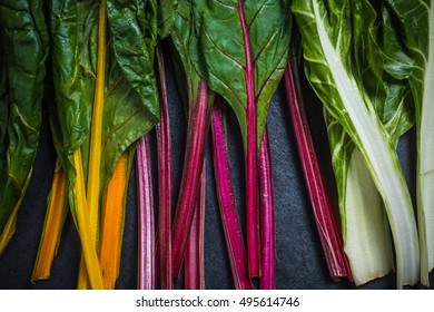 Rainbow chard , colorful eating and healthy diet