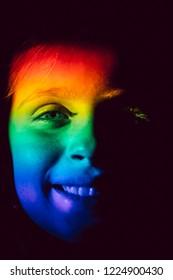 Rainbow Child Face