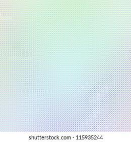 Rainbow color hologram