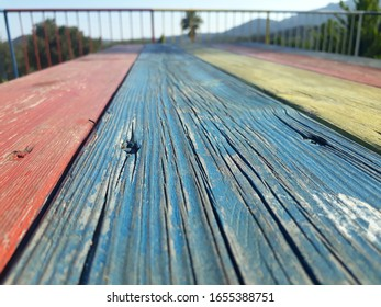 Rainbow colored beautiful wood lines
