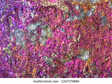 rainbow colored chalcopyrite texture macro photo