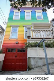 Rainbow Colored Home in Noe Valley San Francisco, California, United States