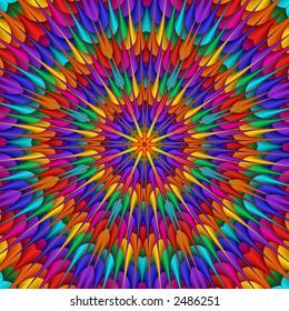 rainbow colored kaleidoscope