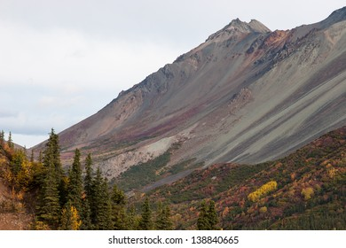 Rainbow colors cascade down mountain slopes