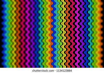 rainbow colors hexagon geometric