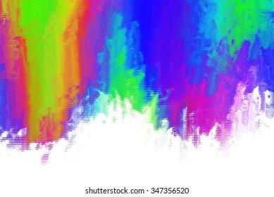rainbow colourful brush stroke