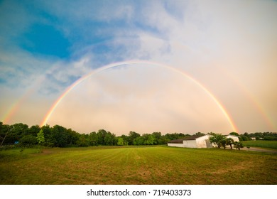 Rainbow in the countryside