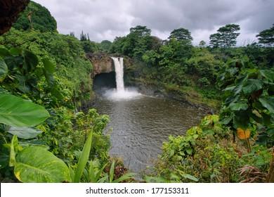 Rainbow Falls in Big Island, Hawaii