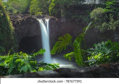 Rainbow Falls in Big Island, Hawaii USA