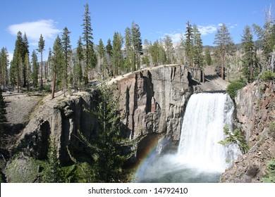 Rainbow Falls at Mammoth Lakes, CA