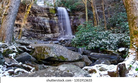 Rainbow Falls in the Smoky Mountains, Tennessee.