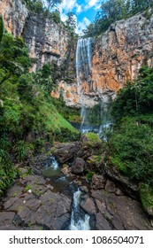 Rainbow Falls waterfall in Springbrook National Park, Queensland, Australia