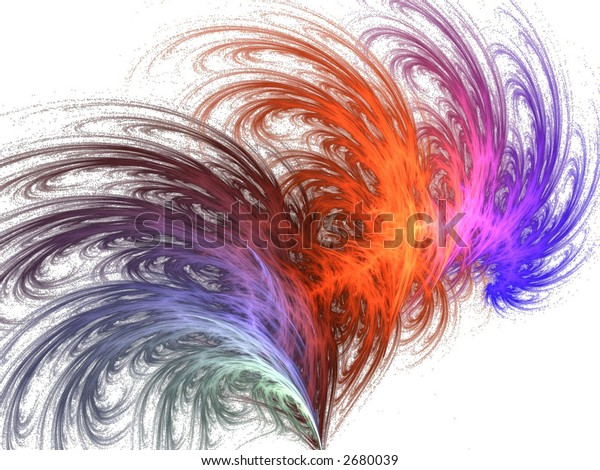 rainbow feather abstract design icon