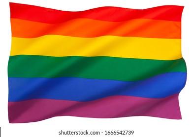 La bandera arco iris (también conocida como la bandera del orgullo gay o la bandera del orgullo LGBT) es una bandera arcoiris que se usa como símbolo de orgullo gay, lesbiana, bisexual, transgénero y gay.