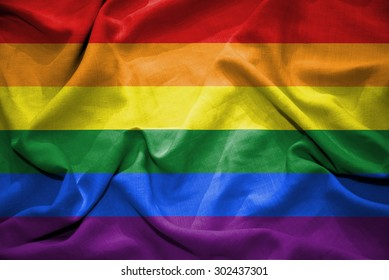 Rainbow flag. illustration