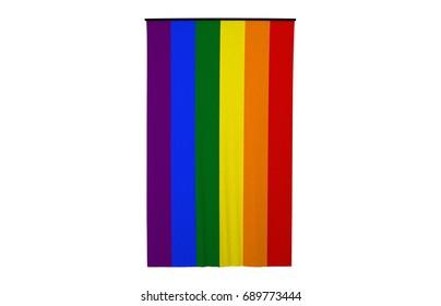 Rainbow Flag, LGBT Flag 3D Render