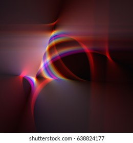 Rainbow Fractal Light Curved Line Formation