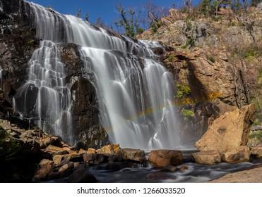 Rainbow in front of waterfall, Mackenzie Falls, The Grampians, Australia