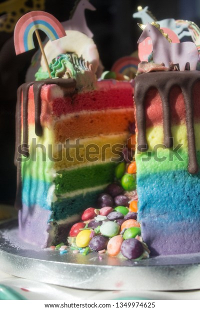 Wondrous Rainbow Gay Pride Layer Cake Stock Photo Edit Now 1349974625 Funny Birthday Cards Online Overcheapnameinfo