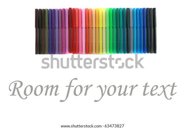 Rainbow Generic Felt Tip Marker Pens Stock Photo (Edit Now