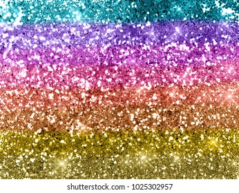 Rainbow glitter background texture