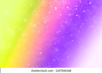 Rainbow glitter color background for Bokeh with soft focus.