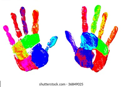 Rainbow Hands - We all have rainbows in our hands, from childhood when we played with paint and crayons through adulthood as we create with our hands.