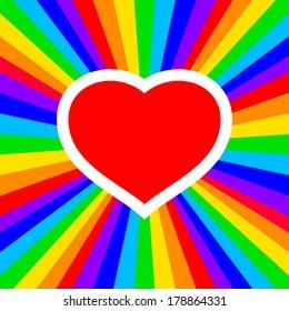 rainbow heart -  illustration