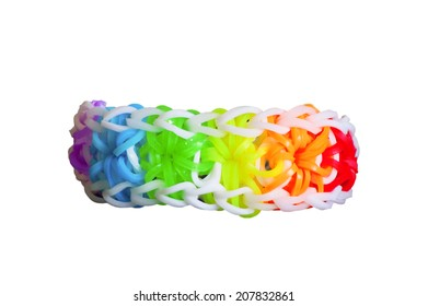 Colorful Background Rainbow Loom Rubber Bands Stock Photo Edit Now