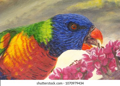 rainbow lorikeet painting
