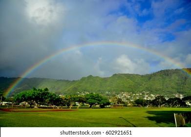 Rainbow Manoa in Honolulu, Oahu, Hawaii, U.S.A.