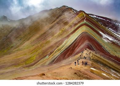 The Rainbow mountain, Perù