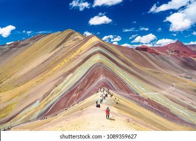 Rainbow Mountain in Cusco, Peru.