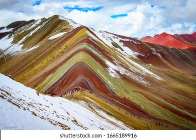Rainbow mountain(Montana de Siete Colores), Cusco, Peru.