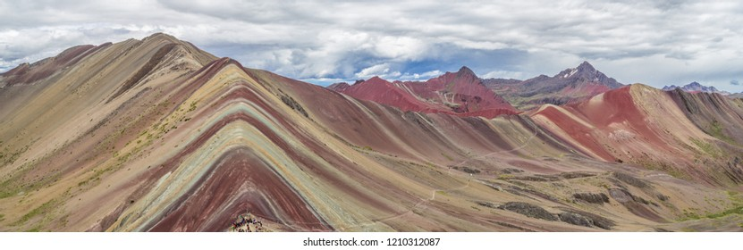 Rainbow mountains in Peru, also known as Vinicunca, Peru - Rainbow Mountain (5200 m)