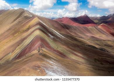 Rainbow Mountains shot with a drone. Cusco - Peru Jan.2018