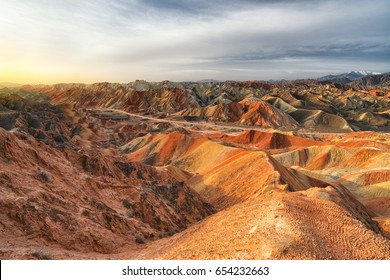 Rainbow moutain's Zhangye Danxia National Geological Park, Zhangye, Gansu - China